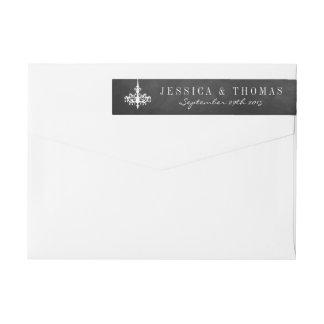 Elegante Leuchter-Tafel-Hochzeits-Sammlung Rundum-Adressaufkleber Für Rückversand