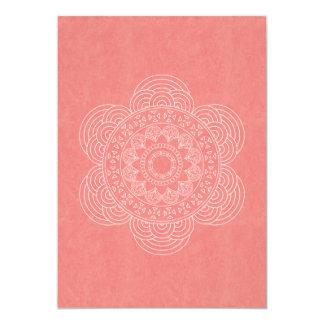 Elegante Mandala Boho schicke Hochzeit 12,7 X 17,8 Cm Einladungskarte