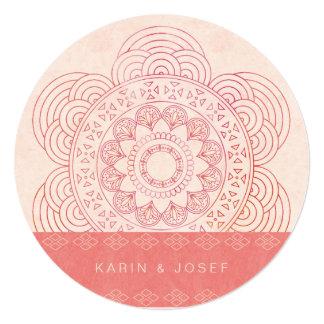 Elegante Mandala Boho schicke Hochzeit Quadratische 13,3 Cm Einladungskarte
