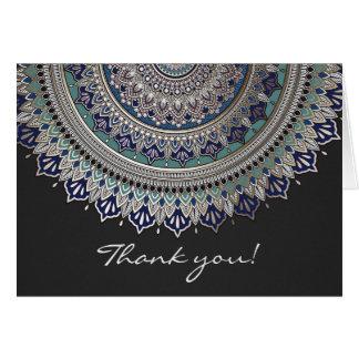 Elegante Mandala danken Ihnen Karten