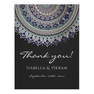 Elegante Mandala-Hochzeit danken Ihnen Postkarten