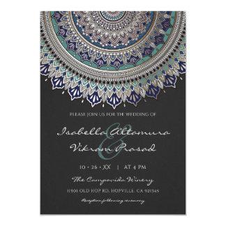 Elegante Mandala-Hochzeits-Einladungen Karte