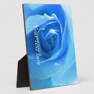 elegante, moderne, coole blaue Rosenblume Fotoplatte