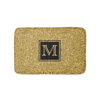 Elegante moderne GoldGlitter-Beschaffenheit mit Badematte