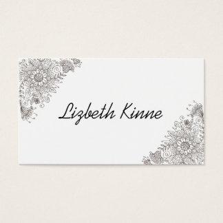Elegante moderne modische Art Visitenkarte