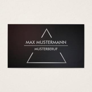 Elegante moderne pyramide Visitenkarten