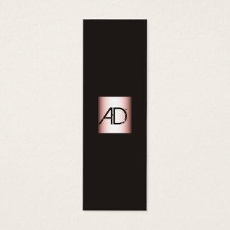 Elegante Monogramm-Maskenbildner-Visitenkarte Mini-Visitenkarten