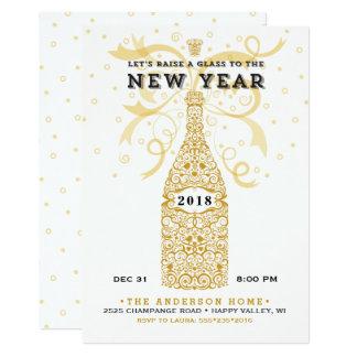 Elegante neues Jahr-Party Einladung 2018