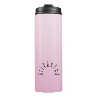 Elegante neutrale Steigungs-korallenroter rosa Thermosbecher