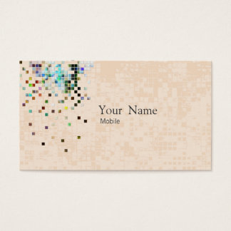 Elegante Paillette Visitenkarte
