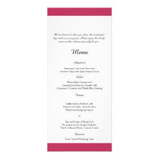 Elegante Pfingstrose im weißen Hochzeits-Menü Kartendruck