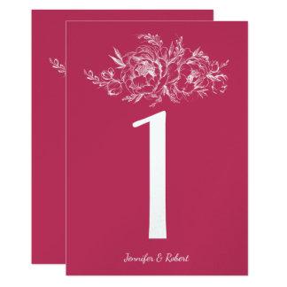 Elegante Pfingstrose in der weißen Wedding 12,7 X 17,8 Cm Einladungskarte