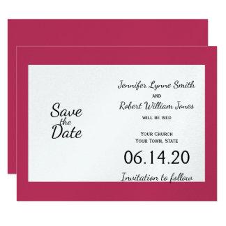 Elegante Pfingstrose in weißem Wedding Save the 10,8 X 14 Cm Einladungskarte