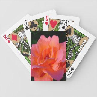 Elegante Pfirsich-Rose Bicycle Spielkarten