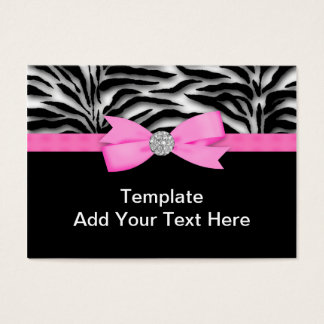 Elegante Pinkzebra-Visitenkarten Visitenkarte