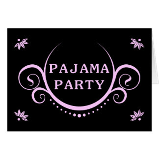 Elegante Pyjama Party Einladung