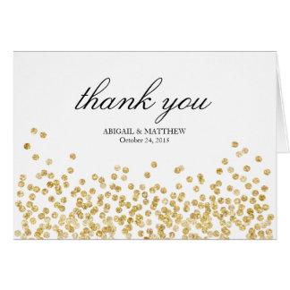 Elegante Rahmen-Hochzeit danken Ihnen Karte