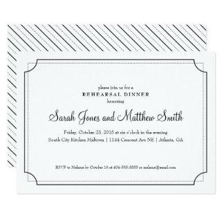 Elegante Rahmen-Proben-Abendessen-Einladung 12,7 X 17,8 Cm Einladungskarte