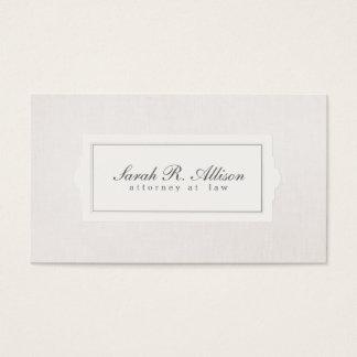 Elegante Rechtsanwalts-Plaketten-Art-beige Visitenkarten