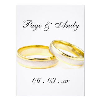 Elegante Ring-Orchidee blüht goldene Hochzeit 16,5 X 22,2 Cm Einladungskarte
