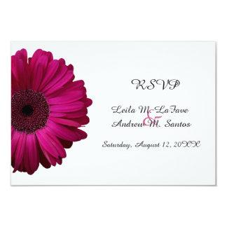 Elegante rosa Gerbera-Gänseblümchen-Hochzeit UAWG Karte