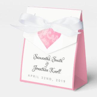 Elegante rosa Herz-Hochzeits-Gastgeschenk-Tasche, Geschenkschachtel