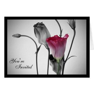 Elegante rosa Rosen-Einladungen Karte