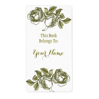 Elegante Rose, die weißen goldenen Bookpate