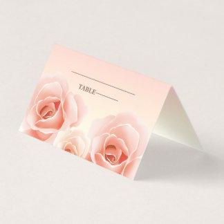Elegante Rosen-Malerei-Tabellen-Platzkarten Platzkarte