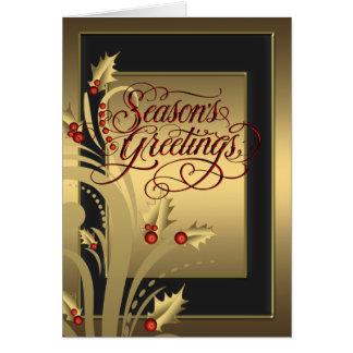 Elegante rote Goldstechpalmen-christliche Grußkarte