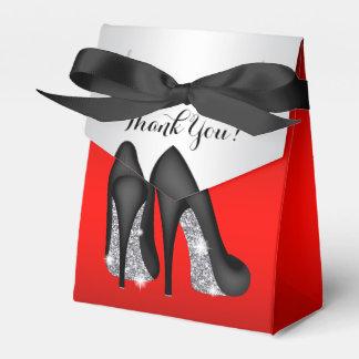 Elegante rote schwarze geschenkschachtel