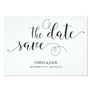 Elegante Save the Date Karte - Kalligraphie