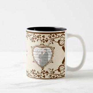 Elegante Schmetterlings-Hochzeits-Tasse Zweifarbige Tasse