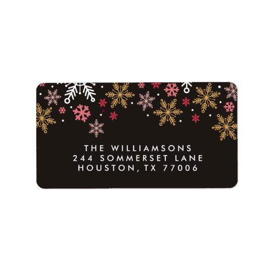 Elegante Schneeflocke-personalisierte Adressetikett
