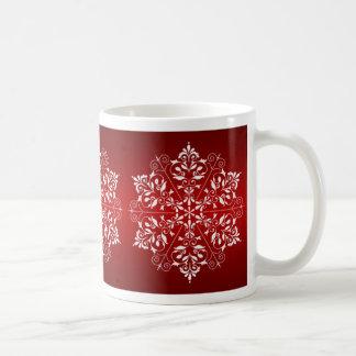 Elegante Schneeflocke-WeihnachtsTasse Kaffeetasse