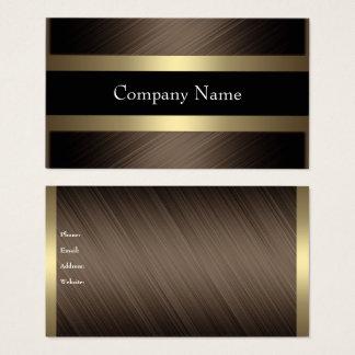 Elegante Schokolade mit schwarzem Kaffee Visitenkarte