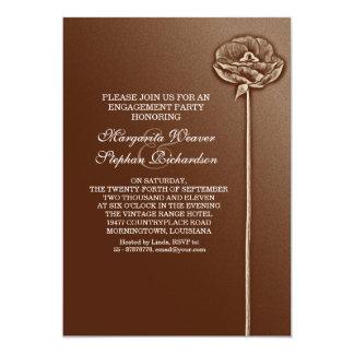 elegante schöne Entwurfs-Verlobungseinladungen 12,7 X 17,8 Cm Einladungskarte