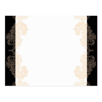 Elegante Schwarz- und Goldeinladungsschablone Postkarte