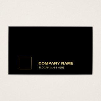 Elegante schwarze Goldebenen-berufliches Visitenkarte