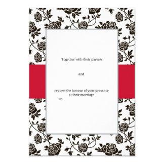 Elegante schwarze Rose Karte