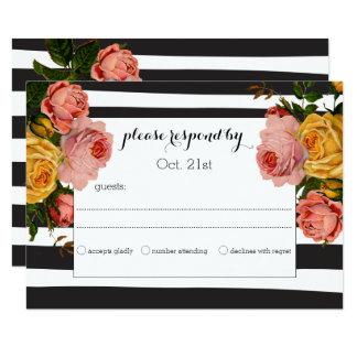 Elegante schwarze Streifenheirloom-Rosen, die UAWG Karte