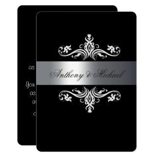 Elegante Schwarzweiss--, Wedding Einladung