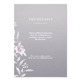 Elegante silberne Chinoiserie-Hochzeitsmit 11,4 X 15,9 Cm Einladungskarte