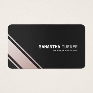 Elegante silberne schwarze strukturierte visitenkarte