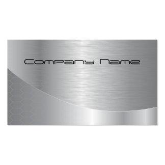 Elegante silberne UnternehmensVisitenkarte