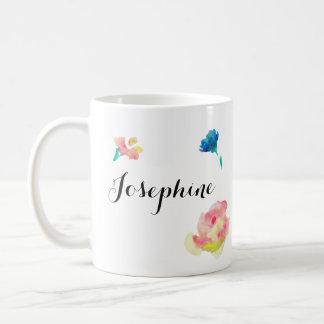 Elegante Skriptart, boho waterpaint Blumen Tasse