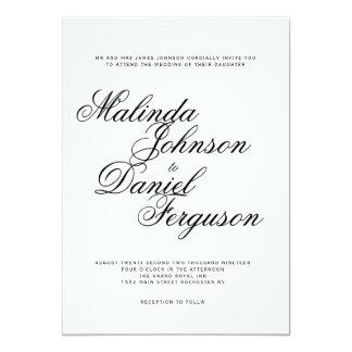 Elegante Skripthochzeitseinladung 12,7 X 17,8 Cm Einladungskarte