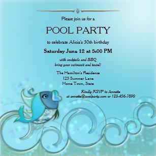 Erwachsenes Pool Party Einladungen | Zazzle.ch
