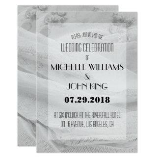 Elegante Spitze-Hochzeits-Einladung in Karte