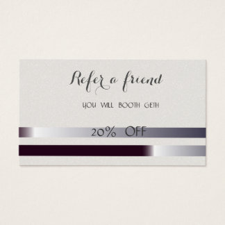Elegante stilvolle gestreifte Empfehlungs-Karte Visitenkarten